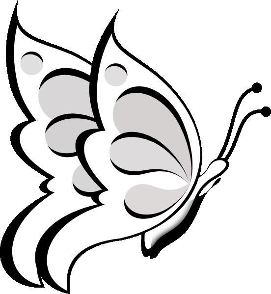 Butterfly Outline Clip Art   Blank Butte-Butterfly Outline Clip Art   Blank Butterfly Clip Art at Clker clipartall.com - vector clip art online ...   BUTTERFLIES   Pinterest   Clip art, Art and Flower-6