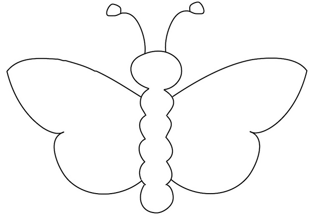 Butterfly Outline Clip Art-Butterfly Outline Clip Art-7
