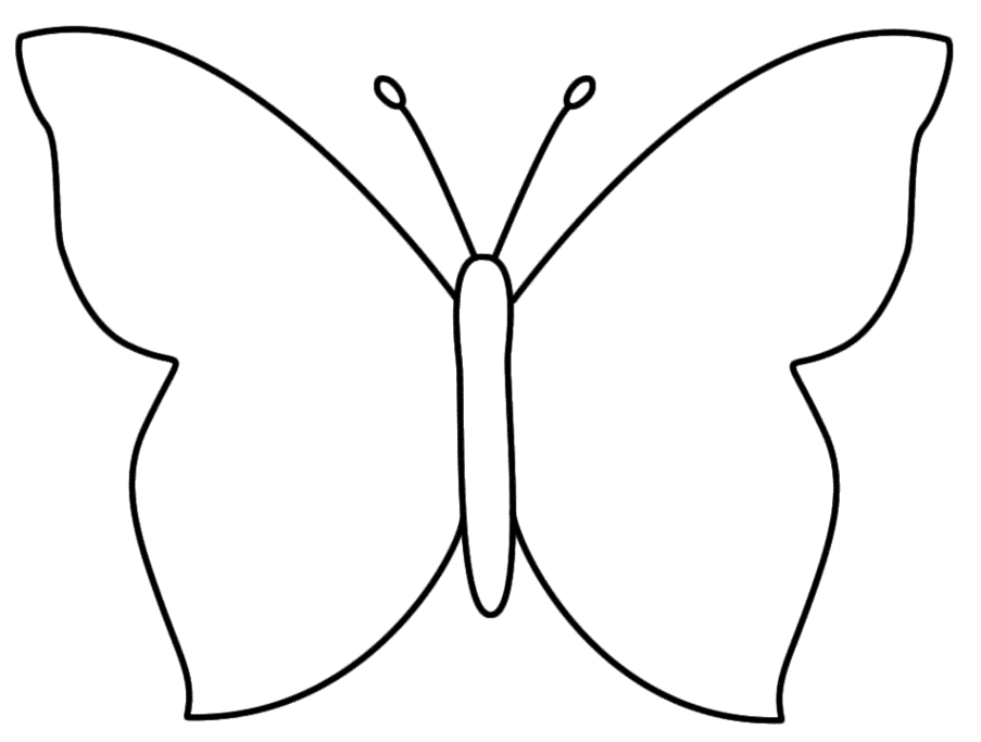 Butterfly Outline Template - Butterfly Outline Clipart