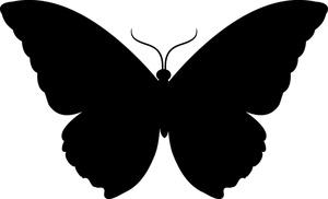 Butterfly Silhouette Clip .-Butterfly Silhouette Clip .-2