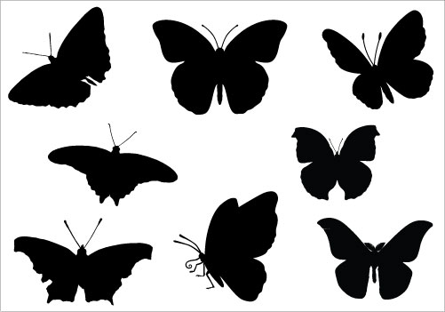 butterfly Silhouette Clip .