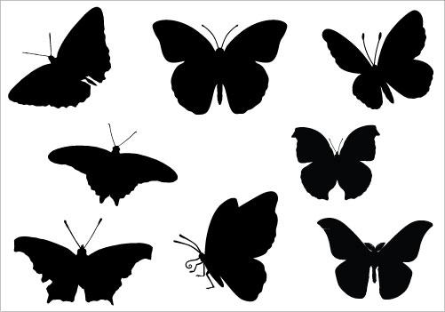 butterfly Silhouette Clip .-butterfly Silhouette Clip .-4