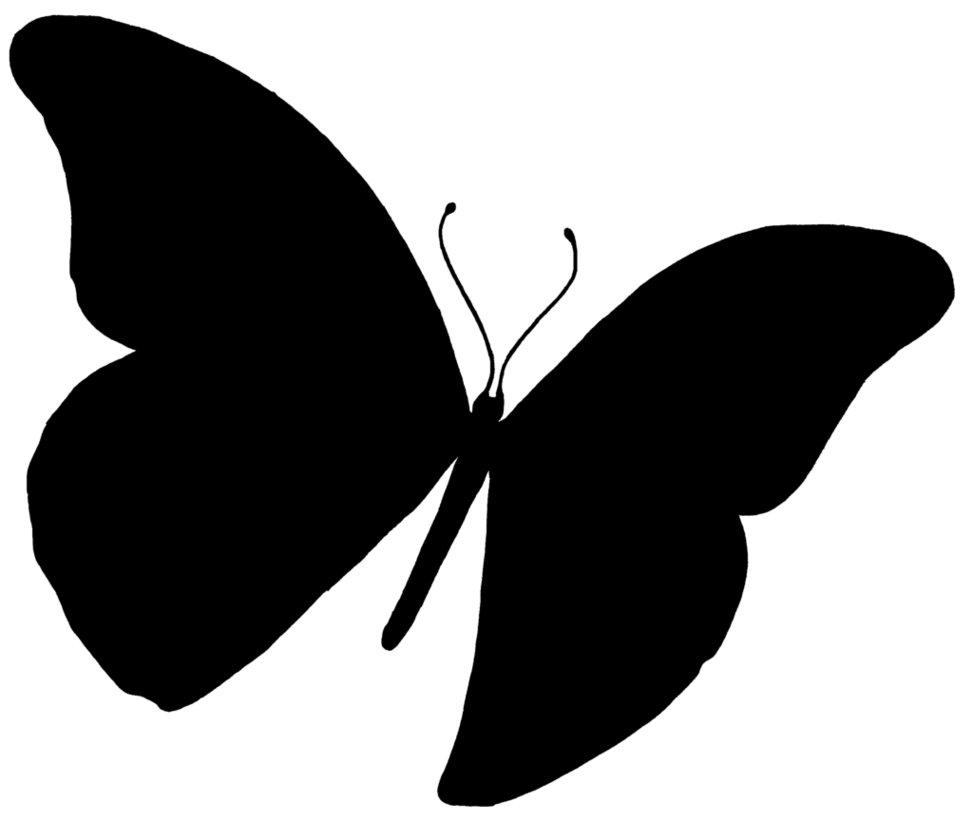 DIY Butterfly Silhouette Art