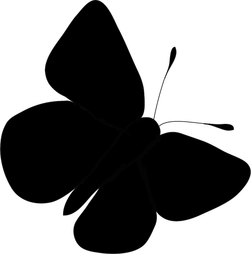 Butterfly Silhouette Set Different Clipart - Free Clip Art Images. Silhouette Graphics