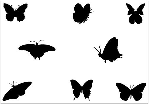 Butterfly Silhouette Vector Graphics - Silhouette Clip Art | Silhouette Clip Art | Pinterest | Clip art, Graphics and Art