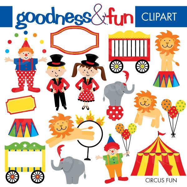 Buy 2, Get 1 FREE - Circus Fun Clipart --Buy 2, Get 1 FREE - Circus Fun Clipart - Digital Circus Clipart - Instant Download-2