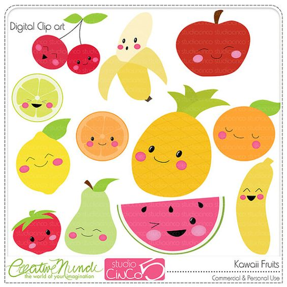 Buy 2 get 1 FREE - Kawaii Fru - Free Commercial Use Clipart