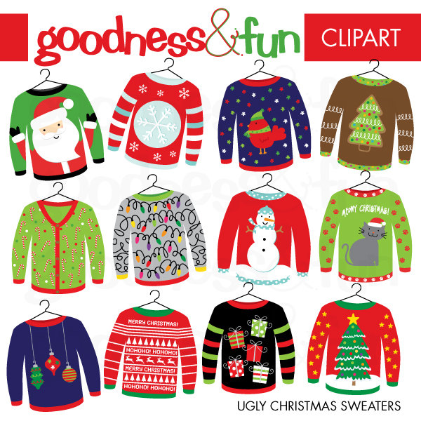 Buy 2, Get 1 FREE - Ugly Chri - Ugly Christmas Sweater Clipart