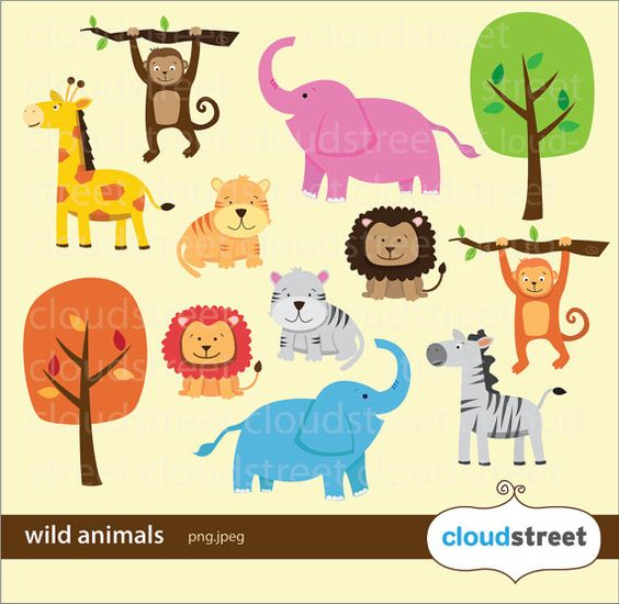 Buy 2 Get 1 Free Wild Animals Clipart Fo-buy 2 get 1 free Wild Animals Clipart for personal and commercial use ( animal clip-2