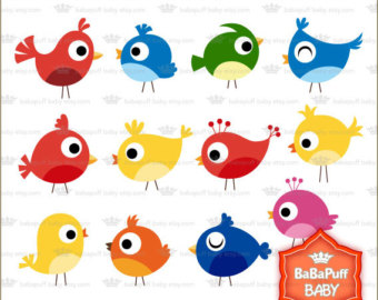 Buy 2 Get 2 Free ---- Baby Birds Clipart ---- Personal and Small Commercial Use ---- BB 0395