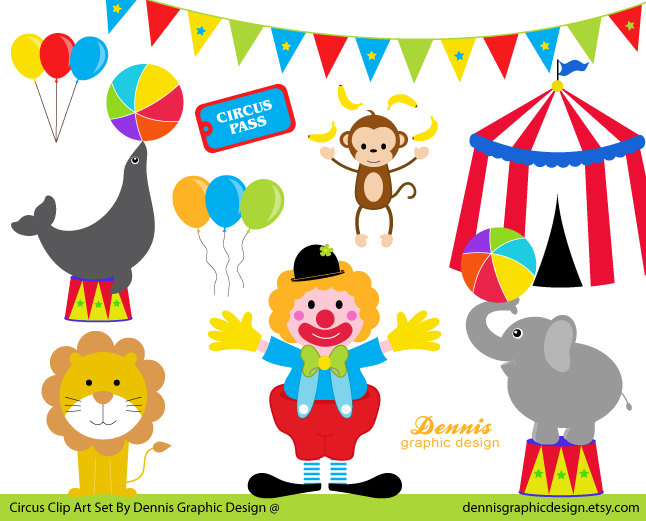Buy 2 Get 2 Free Circus Clip Art Set By -Buy 2 Get 2 Free Circus Clip Art Set By Dennisgraphicdesign-3