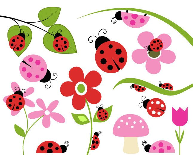 BUY 2 GET 2 FREE Lady Bug Clip Art Bug by DennisGraphicDesign. $5.00 USD,