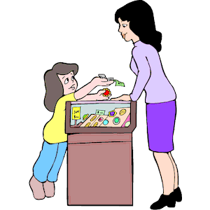 Buying Gift for Mom clipart,  - Purchase Clipart