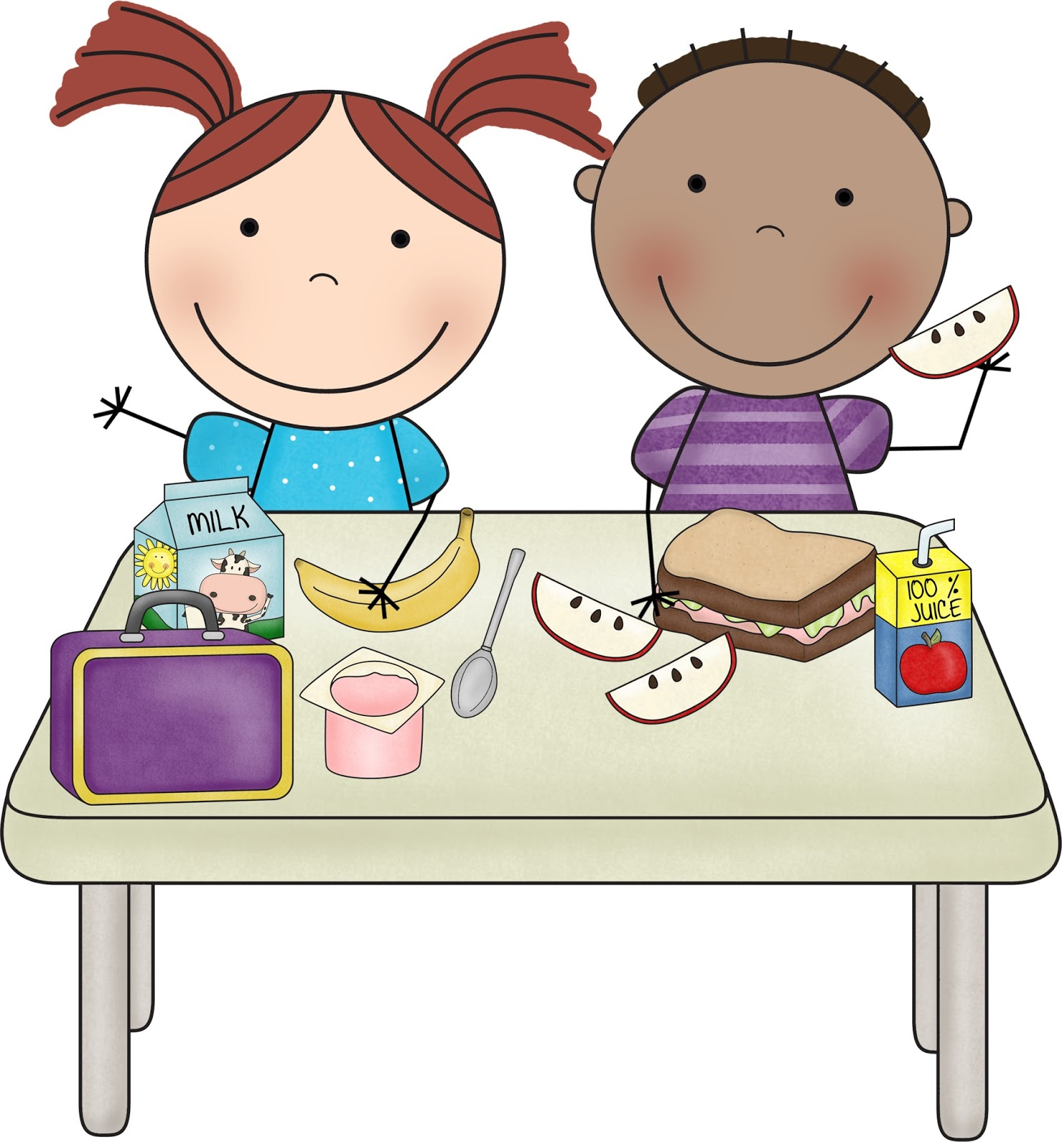 Buying Lunch · kids clipart - Children Eating Clipart