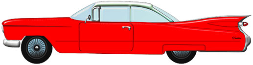 Cadillac red