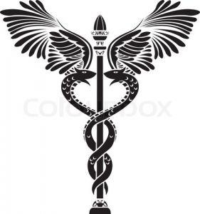 Caduceus Symbol Clip Art | medical symbol caduceus silhouette vector u2013 Item 8 | Vector Magz