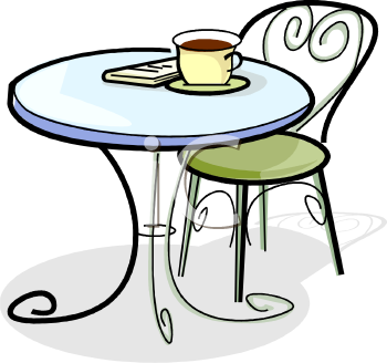 cafeteria table clipart