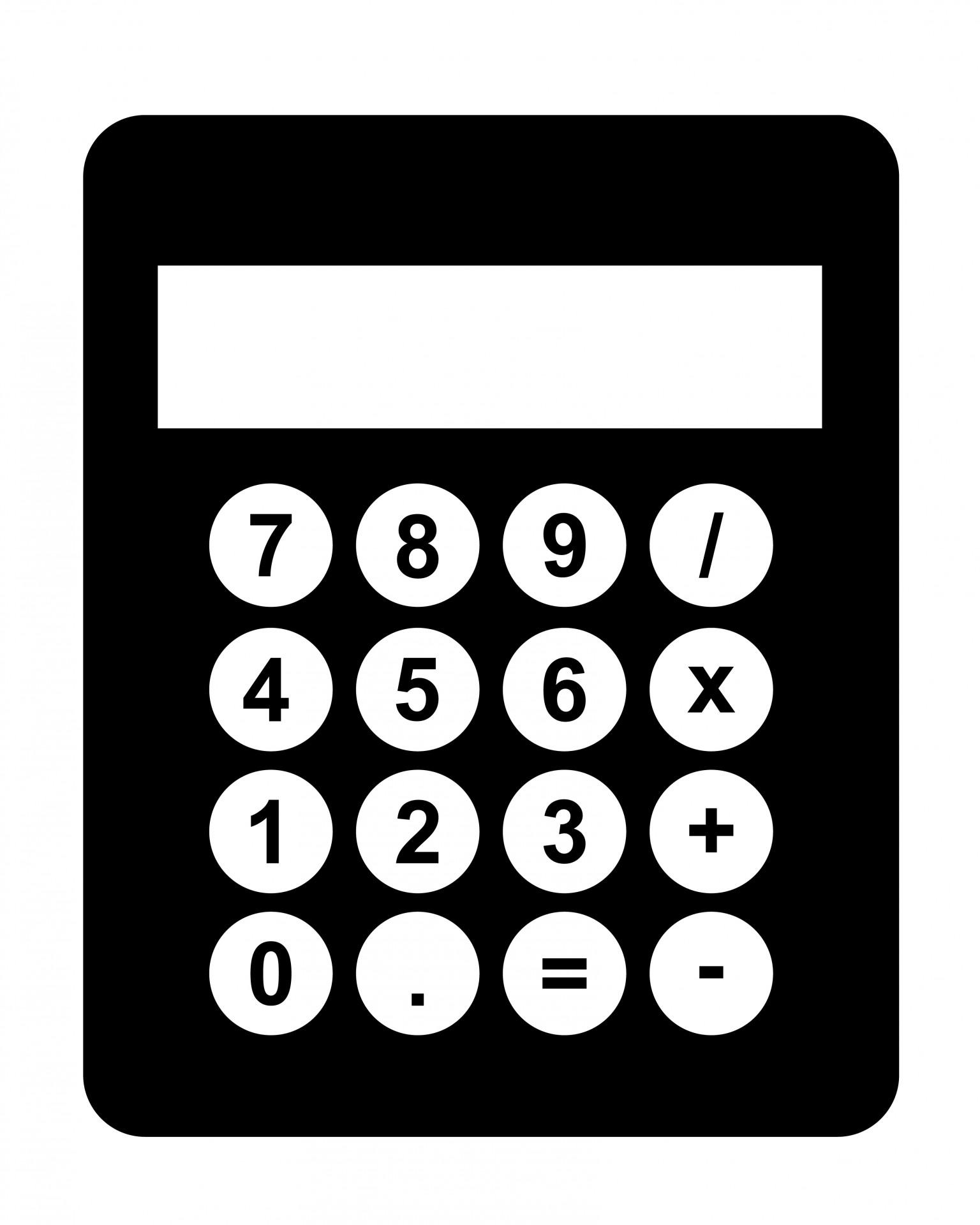 Calculator Black Clipart-Calculator Black Clipart-5