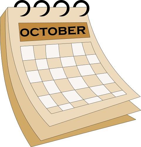 Calendar 07 October1 Classroom Clipart