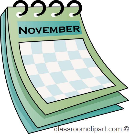 Calendar November Calendar 712 Classroom Clipart