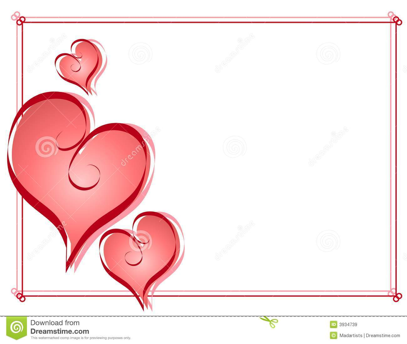 graphic about Valentine Borders Free Printable known as 57+ Valentine Border Clip Artwork Absolutely free ClipartLook