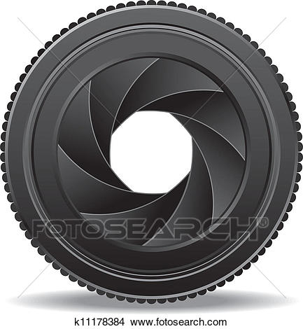 Clipart - camera lens shutter . Fotosearch - Search Clip Art, Illustration  Murals, Drawings