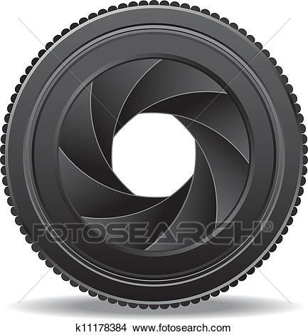 Clipart - camera lens shutter . Fotosearch - Search Clip Art, Illustration  Murals, Drawings