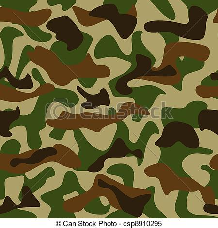 ... Camouflage pattern - Seamless camouflage pattern green and.