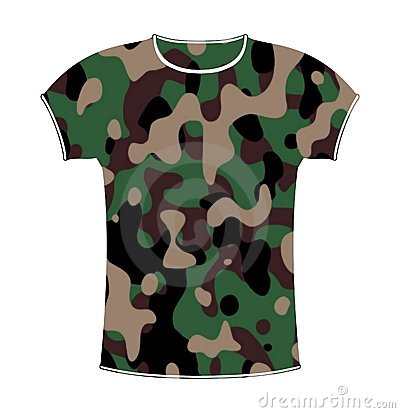 Camouflage T-shirt Royalty .