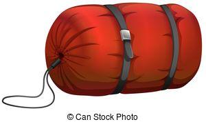 ... Camp Sleeping Bag On White Illustrat-... Camp sleeping bag on white illustration-2