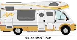 ... Camper - Modern camper van. Camper Clipartby ...