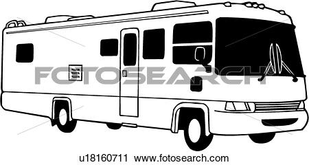 camper, motorhome, recreation, recreational, rv, vehicle, automobile,. ValueClips Clip Art