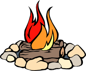 Camping campfire. Images clip art