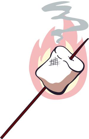 campfire marshmallow clipart