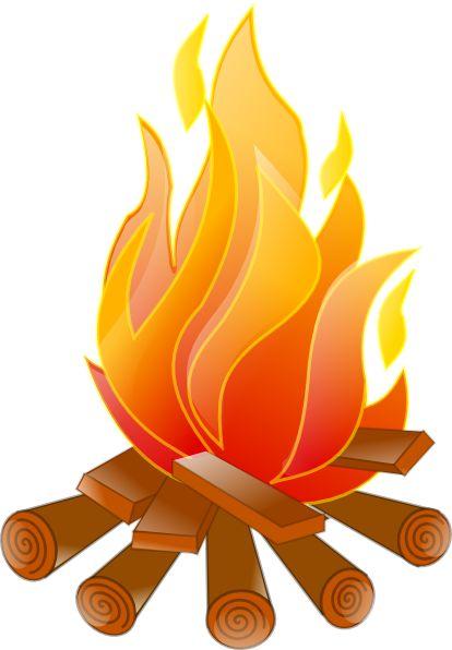 Campfire Clip Art | Campfire No Shadow clip art - vector clip art online, royalty