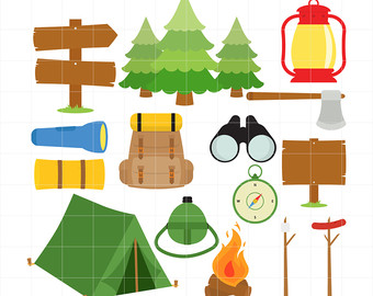 Camping Fun, Outdoor Adventure, Bonfire,-Camping Fun, Outdoor Adventure, Bonfire, Forest, Wild Life Digital Clip Art For Planners, Scrapbooking-15