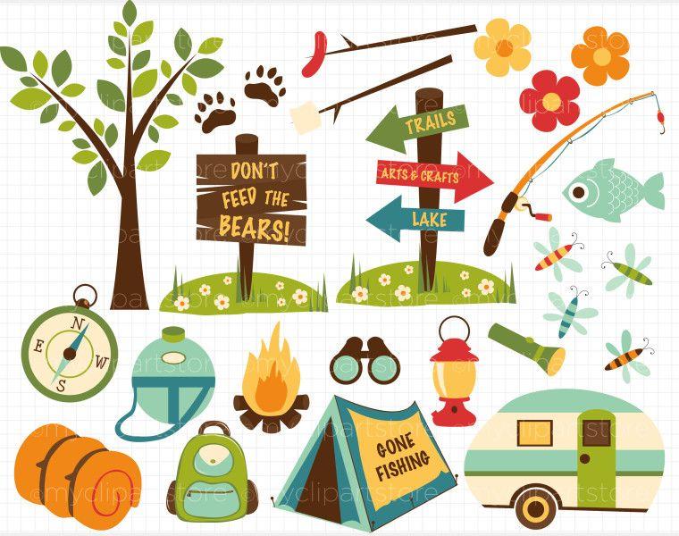 Camping camper. Campsite clipart clipartlook
