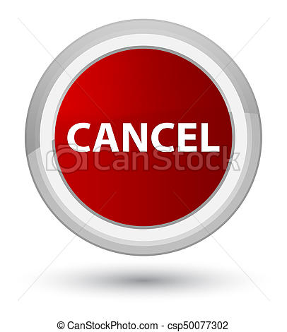 Cancel prime red round button - csp50077-Cancel prime red round button - csp50077302-5