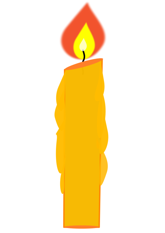 Candle Birthday Clipart Pictu - Candle Clip Art