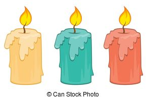 burning candle Clipartby Clip - Candle Clipart