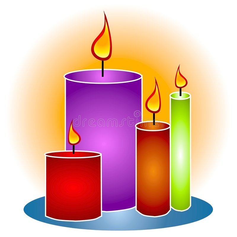 Download Lit Decorative Candles Clipart Stock Illustration - Illustration  of clip, glows: 2887114