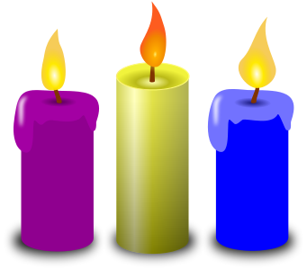 Free Green Candle Clipart