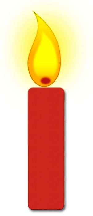 Single Burning Candle Clipart - Candle Clipart
