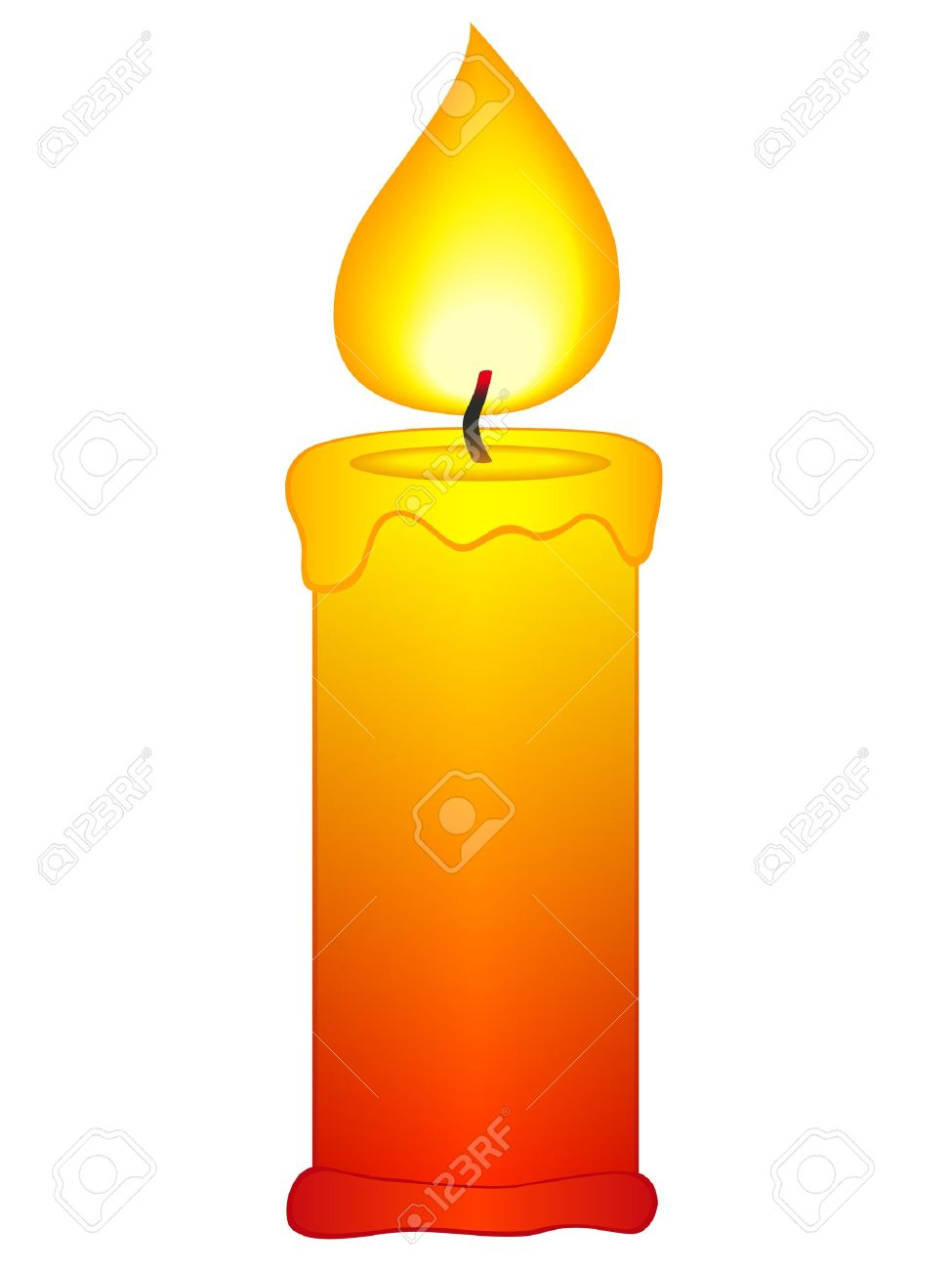 Candle Flame: Candle Icon On A .-candle flame: Candle icon on a .-7