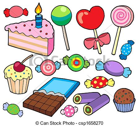 ... Candy And Cakes Collection - Isolate-... Candy and cakes collection - isolated illustration.-6