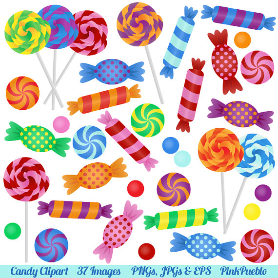 Candy Clipart Clip Art With Lollipops Peppermints Hard Candy And