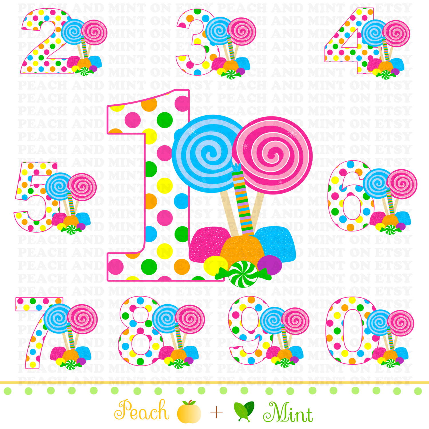 Candy Clipart // Sweet Shoppe Clip Art /-Candy Clipart // Sweet Shoppe Clip Art // Sweet Shop Clip Art // Digital clipart graphics // Commercial Use OK-1