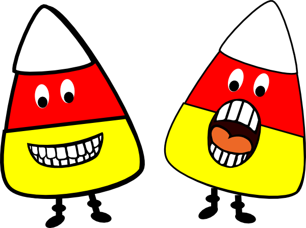 Candy Corn People clip art - vector clip art online, royalty free