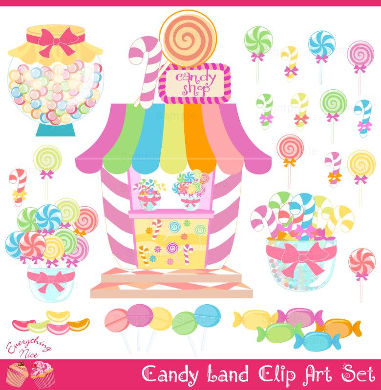 Candy Land Candy Shop Clip Art Set By 1e-Candy Land Candy Shop Clip Art Set By 1everythingnice On Etsy-6