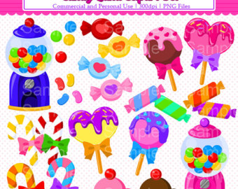 Candy Land Clipart Set Sweet Trea Ts And Candy Clipart Set For